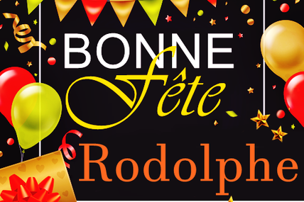 En ce 21 juin, nous souhaitons une bonne fête à Rodolphe :)