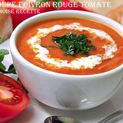 Soupe facile tomate/poivron grille