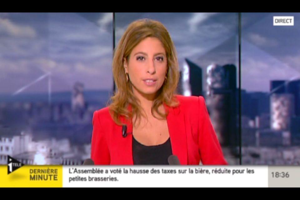 [2012 10 25] LEA SALAME - I>TELE - L'EDITION DU SOIR @18H30