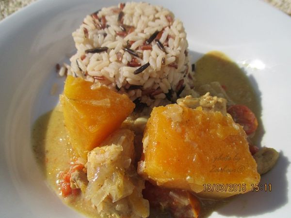 Curry au potiron, pumkin curry