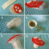 mushroom pincushion tutorial!