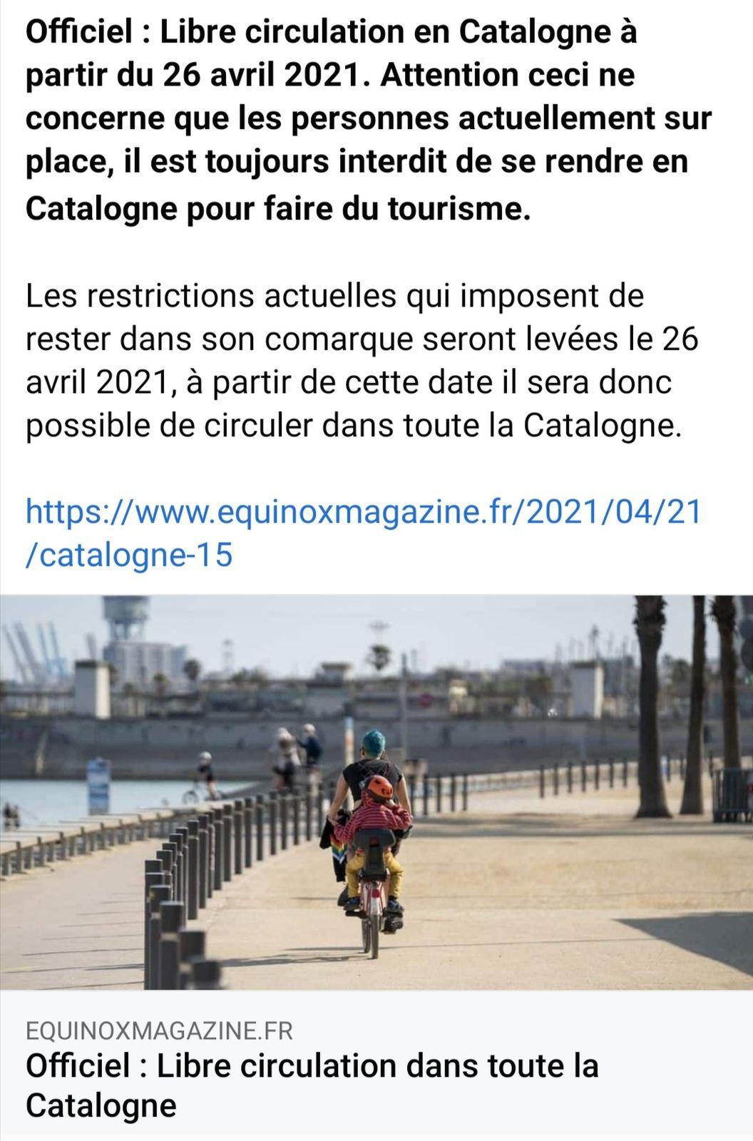 Libre circulation en Catalogne