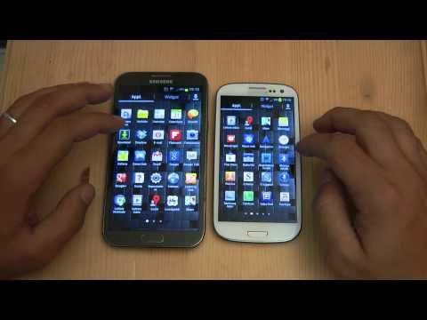 Video confronto tra Galaxy S3 e Galaxy Note 2