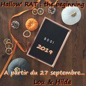 Challenge Halloween 2019 - Hallow'RAT: The beginning - VIVRELIVRE
