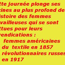 Du 8 mars 1857 au 8 mars 1917, la journée de la femme et le mouvement ouvrier révolutionnaire