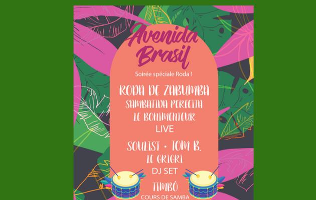 [Annonce +Concours gagnez 2x2 places ] AVENIDA BRASIL : Soirée spéciale RODA le Samedi 23 novembre à la Bellevilloise