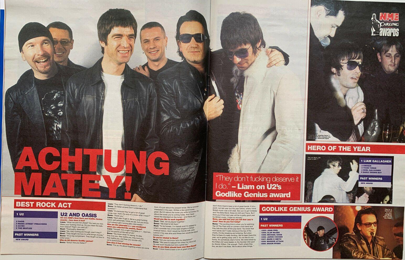 U2 -Magazine NME -17 Février 2001