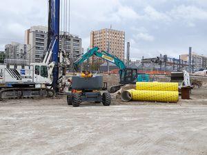 CDG Express : zone de chantier dans le secteur Evangile  -  Photos ASA PNE - Mai 2021