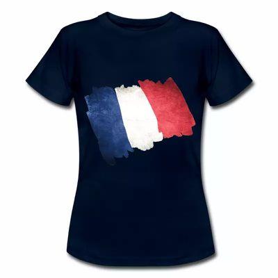 T shirt bleu blanc rouge Drapeau Français en dessin FBM