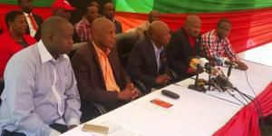 KANU leaders during the press conference