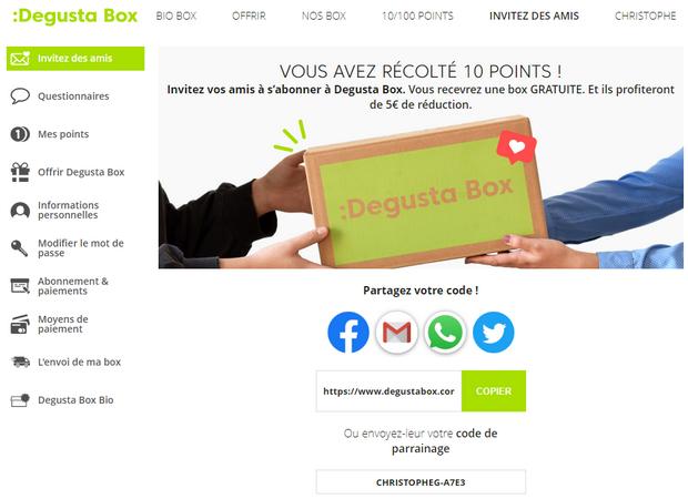 captures d'écran du site Degusta Box - tous droits réservés