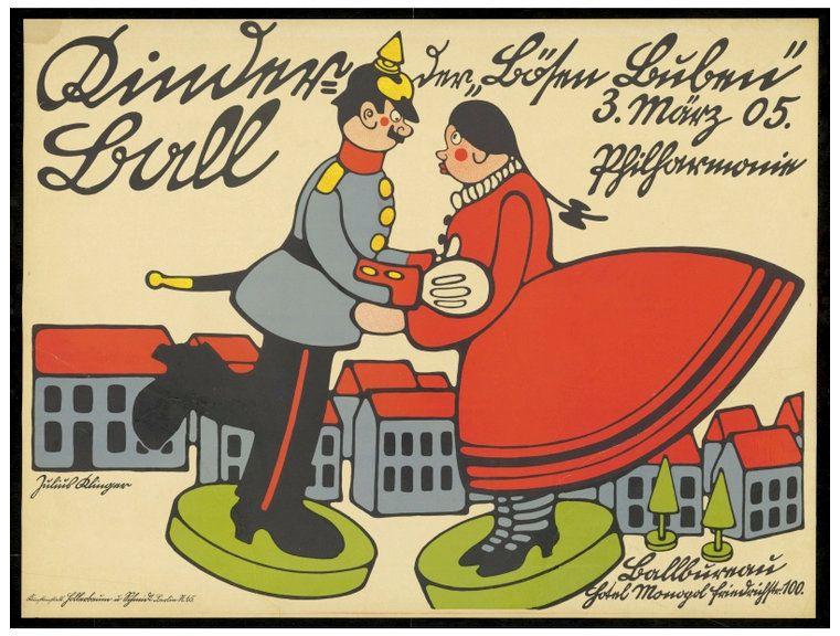PUBLICITES :  LES GRANDS NOMS DE L'AFFICHE...  Julius  KLINGER.