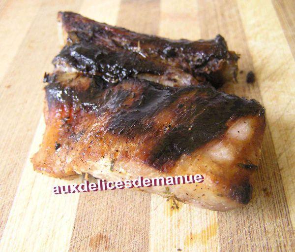 ribs de porc marinés