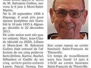 Décès en 2021 à Algrange ou d'anciens algrangeois(es)