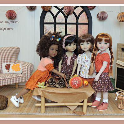 Récolte d'automne pour le quatuor fashion : les petites tenues