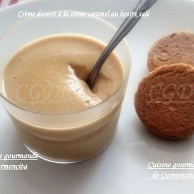 Crème dessert à la crème caramel au beurre salé