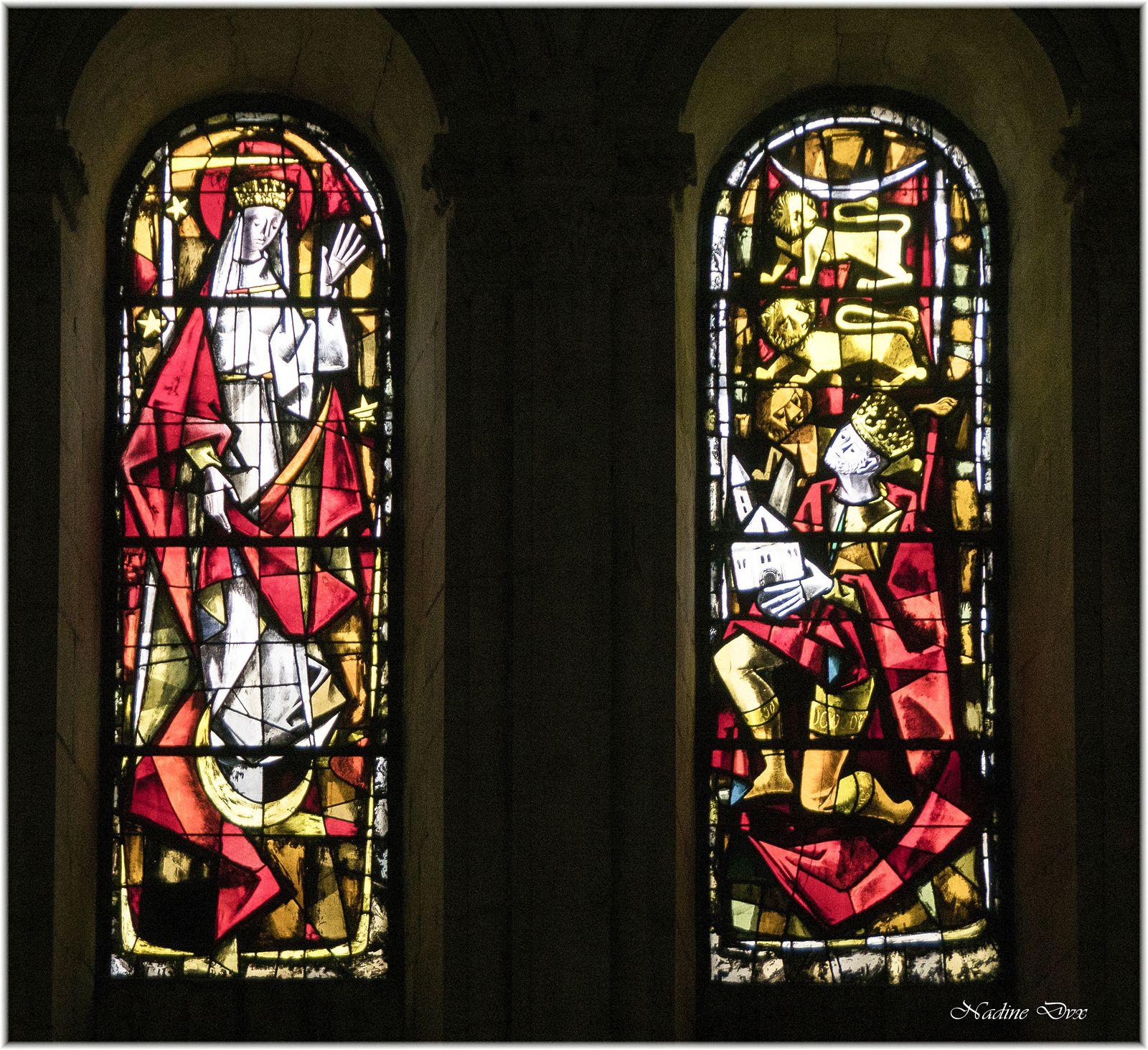 Vitraux de l'église Sainte Jeanne d'Arc ou l'hôtel-Dieu de Coëffort - Le Mans