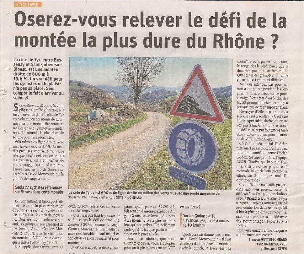 Les montées les plus dures du Rhône