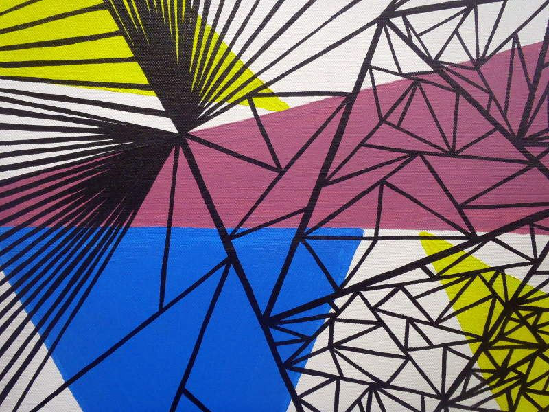 Graphic composition n°1 - Acrylic and marker on canvas