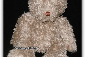 """Doudou peluche ours """" les ours"""" Moulin roty, beige, Léonie"""