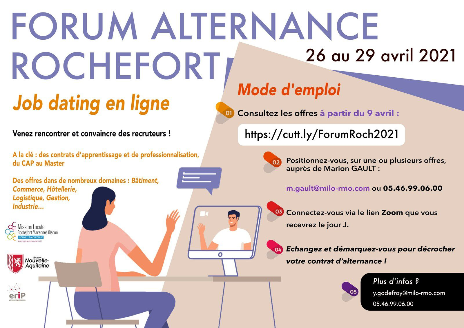 FORUM ALTERNANCE ROCHEFORT DU 26 AU 29 AVRIL