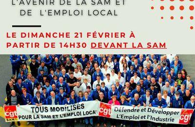 L'emploi à la SAM est toujours menacé : rassemblement devant l'usine dimanche 21 février
