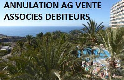 ANNULATION DE L'ASSEMBLEE GENERALE VENTES DES PERIODES ASSOCIES DEBITEURS. TF1 ET TF2