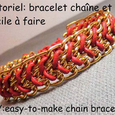 Tutoriel: bracelet chaîne et fil facile à faire