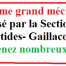 23 août 2020: GRAND MECHOUI DE LA SECTION PCF DES BASTIDES- GAILLACOIS