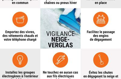 Vigilance orange neige-verglas à partir de 15h