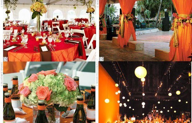 deco de salle de mariage orange