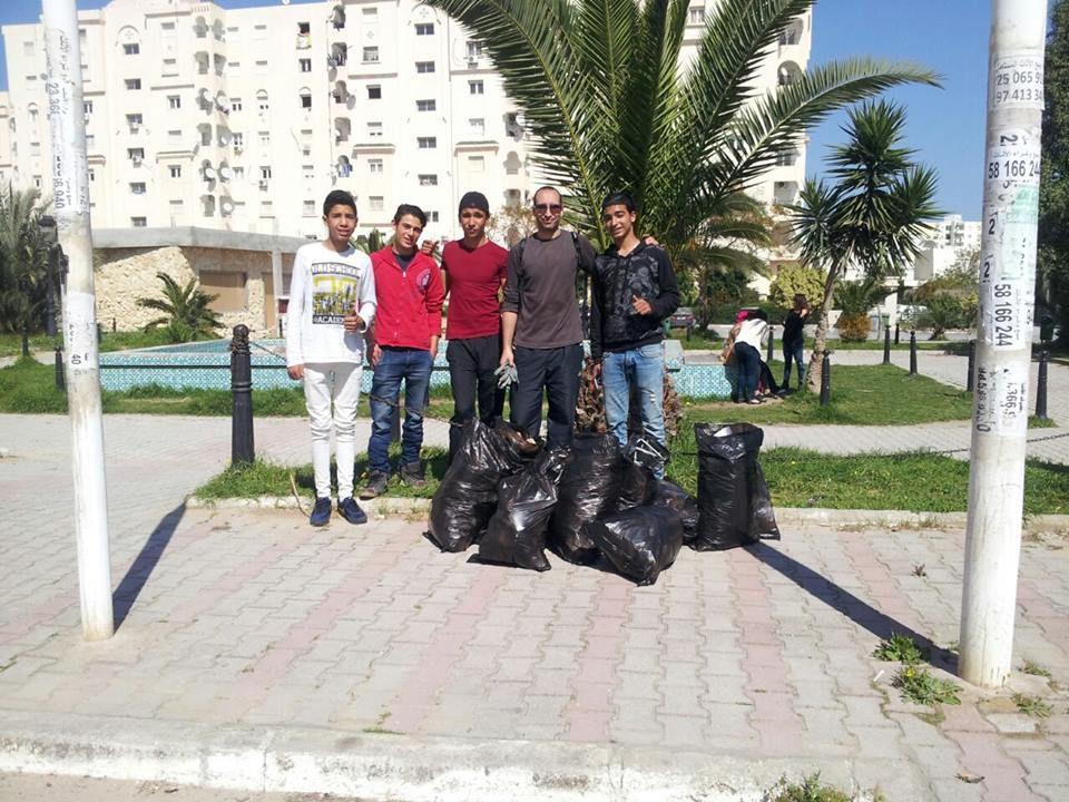 """6- Autre parc , autres """"responsables""""... mais des jeunes qui croient en leur rêve d'une Tunisie meilleure"""