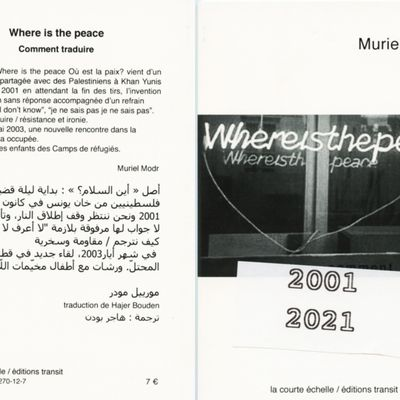 Where is the peace. Comment traduire