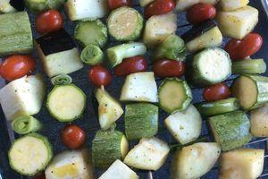 brochettes de légumes à l'omnicuiseur