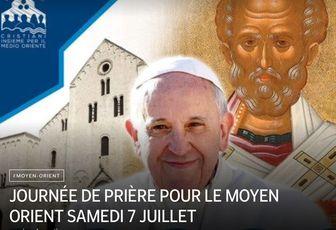 JOURNÉE DE PRIÈRE POUR LE MOYEN ORIENT SAMEDI 7 JUILLET