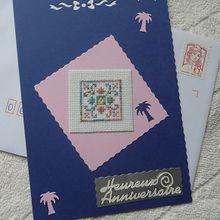 Une carte d'anniversaire, pour Chantal...