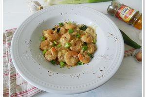Crevettes au piment et au lait de coco