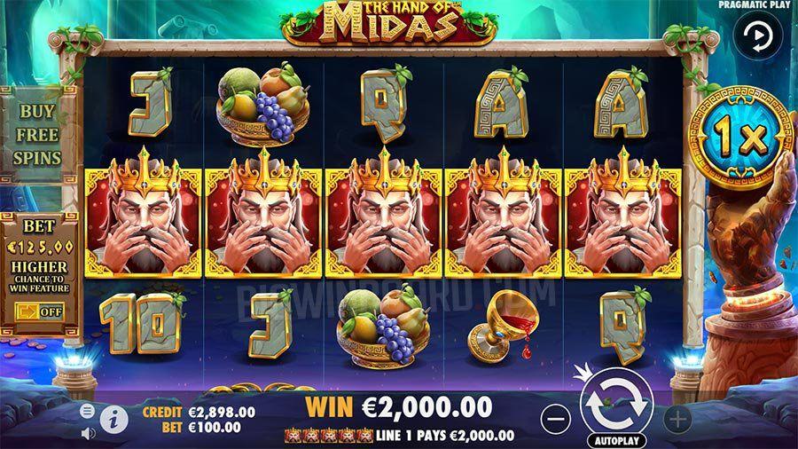 machine à sous mobile The Hand of Midas ligne gagnante grosse victoire