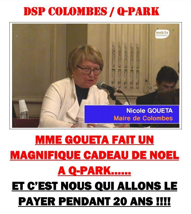 MME GOUETA FAIT UN  MAGNIFIQUE CADEAU DE NOEL A Q-PARK……  ET C'EST NOUS QUI ALLONS LE PAYER PENDANT 20 ANS !!!!