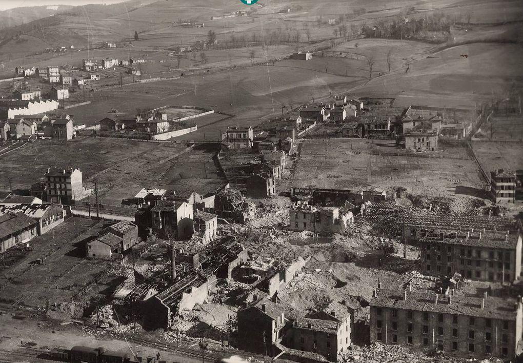 Vue générale sur la Ricamarie depuis le puits Pigeot - Mars 1944 - Archives Municipales de Saint-Etienne - Série 5H ICONO 36