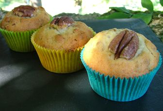 Muffins aux noix de pécan & sirop d'érable