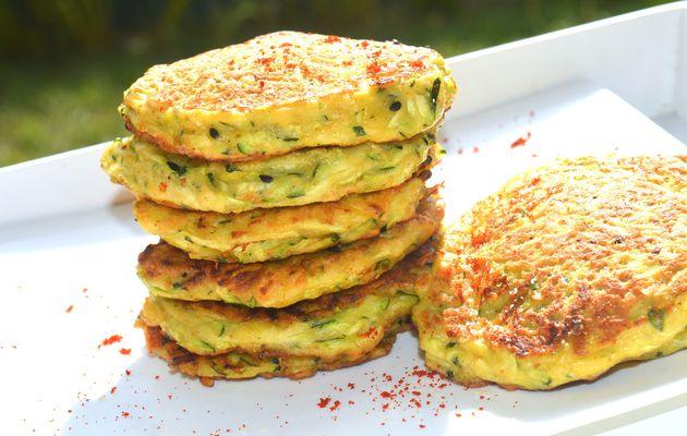 ✿ Pancakes à la courgette, parmesan et nigelle