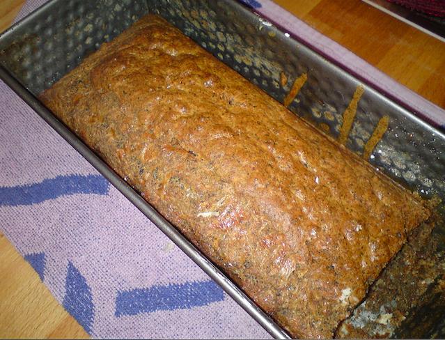 Cake sarrasin au gruyère et olives