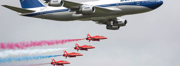 British Airways and the Red Arrows meet again