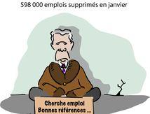 Etats-Unis : 598 000 emplois supprimés en janvier