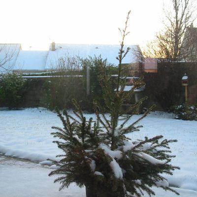 Cherbourg et la neige