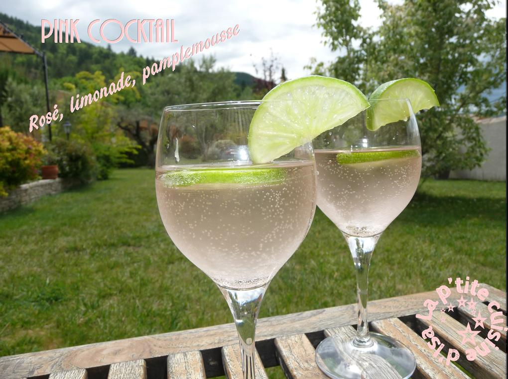Cocktail vin rosé limonade pamplemousse