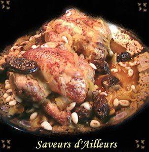 Coquelets rôtis farcis a la viande haché & Riz safrané et le 2ème au boulgour : Un Régal ! ! !