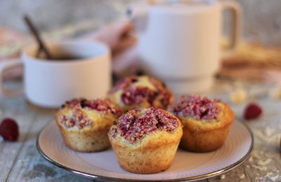 MUFFINS FRAMBOISE CRUMBLE COCO
