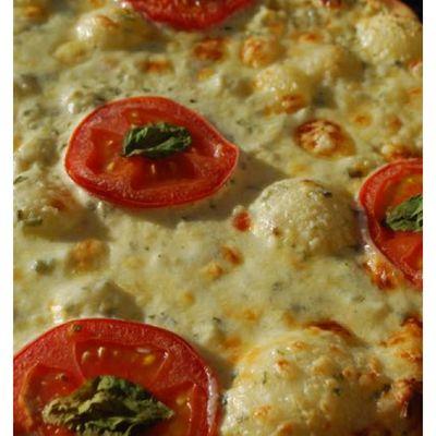 Pizza crème à l'ail